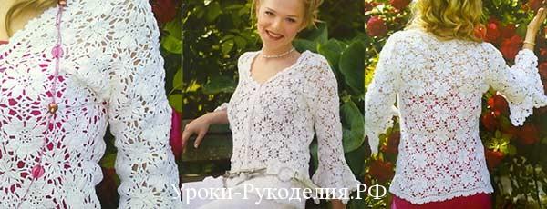 вязание летней кофты для женщин