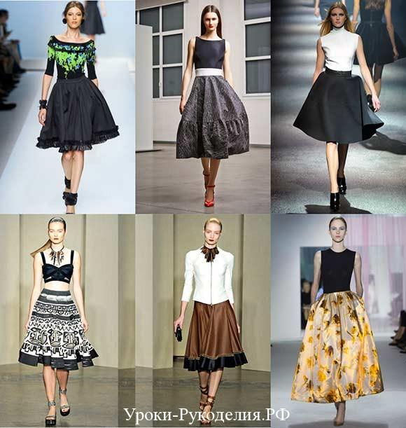 ретро юбки пышные стиль и мода