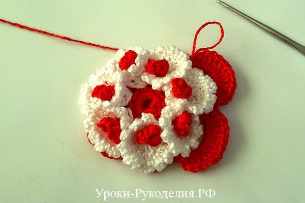 объёмные цветы для декора