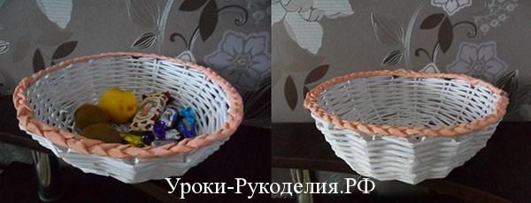 плетение из газет пошагово мк