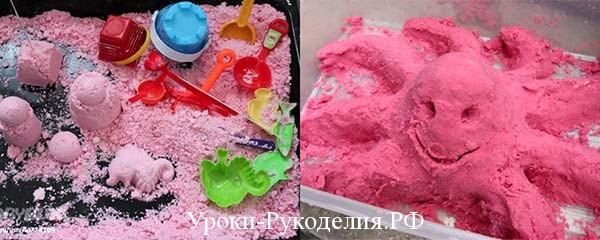 сделать лунный песок своими руками
