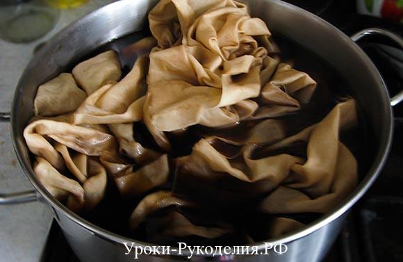 чайный красить для ткани