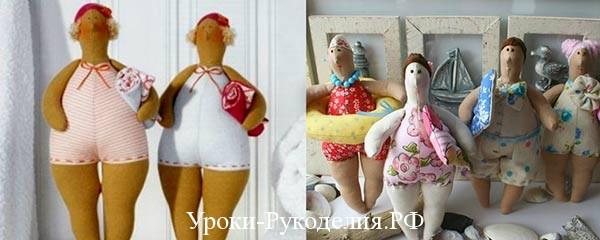Кукла Тильда купальщица