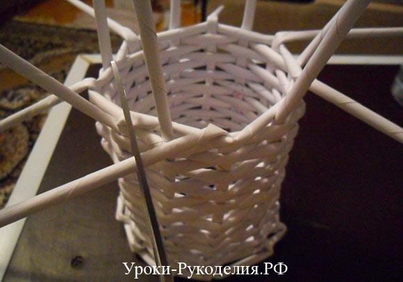 сайт плетение из газетных трубочек