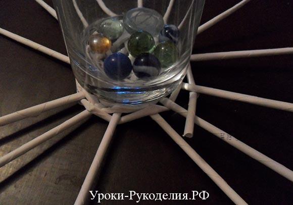 основа для вазы метод плетения