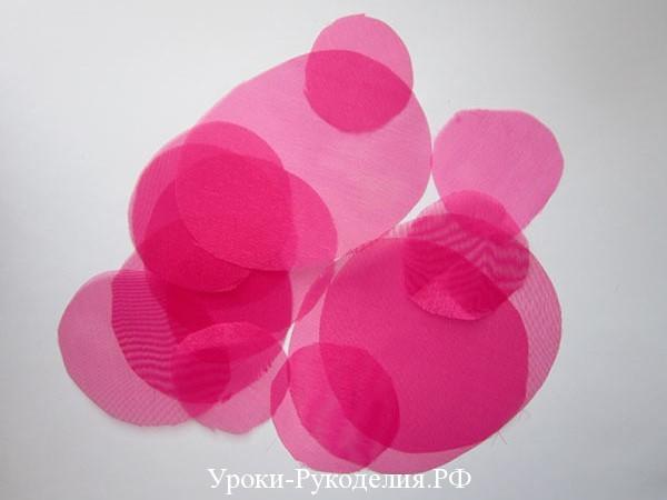 лепестки для цветка из ткани