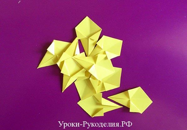 модули для цветка в технике оригами
