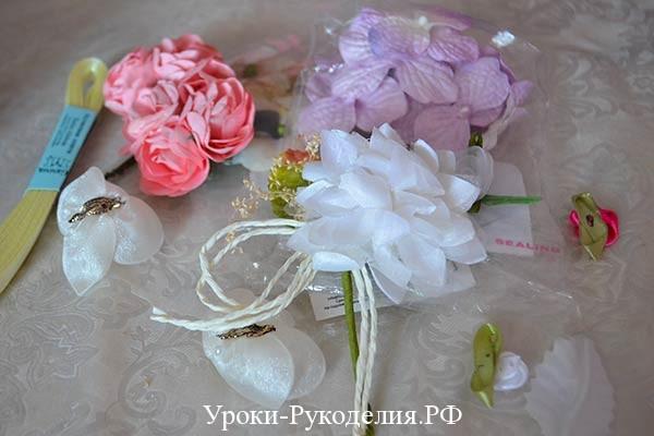 цветы для декорации дерева