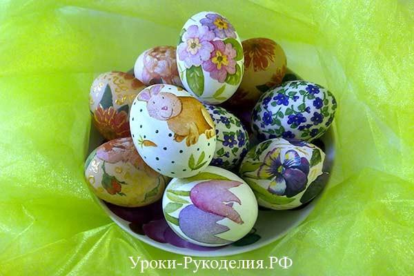 покрасить яйца к пасхе