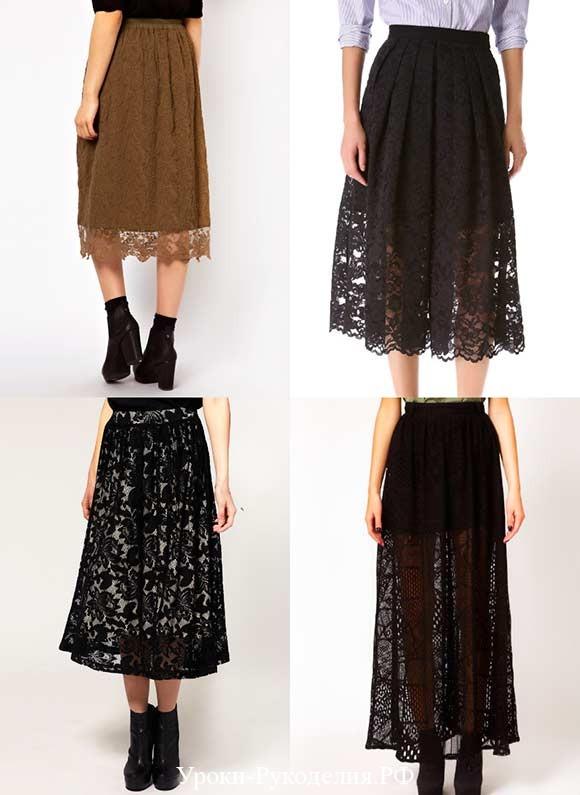 кружевные юбки носить