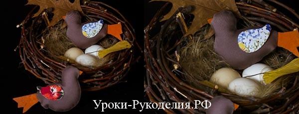 Пасхальный декор своими руками — текстильные птички