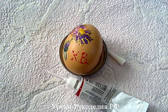 украсить пасхальное яйцо