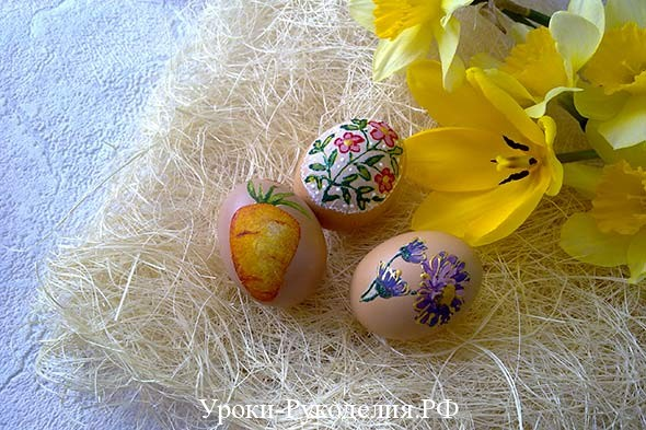 необычный способ покраски яиц