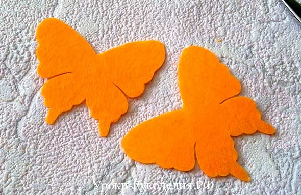 объёмная бабочка своими руками