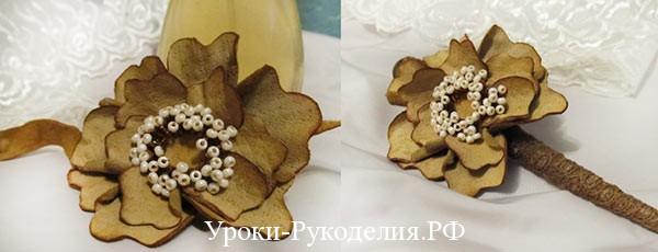 цветы, из кожи мк