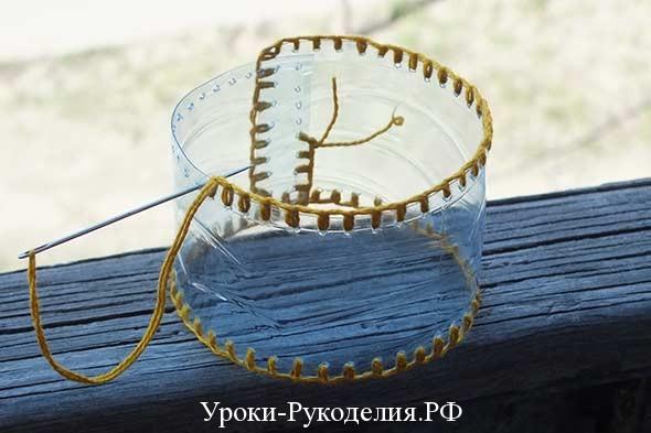 обшить ниткой браслет