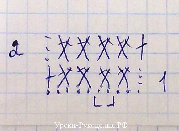 схема рисунка для купальника