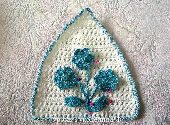 цветочный букет вязанный