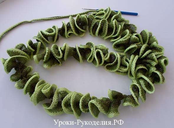 урок рукоделия по вязанию шарфа