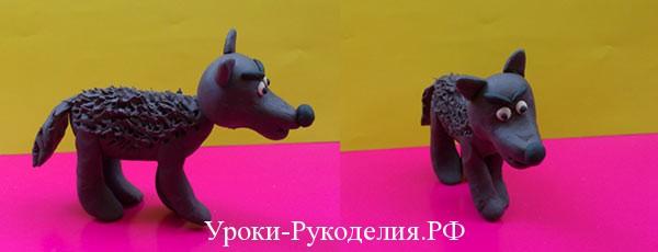Уроки лепки: серый волк из пластилина