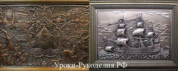 картины на металле