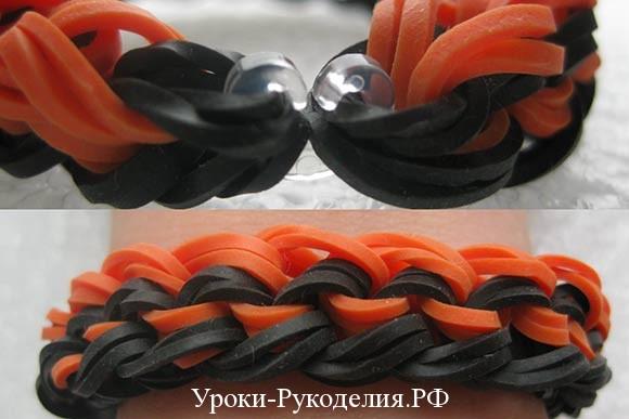 застежка на браслет из резинок