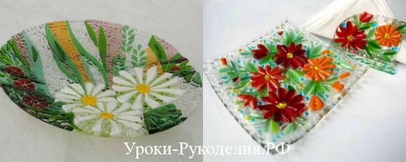 тарелки из стекла