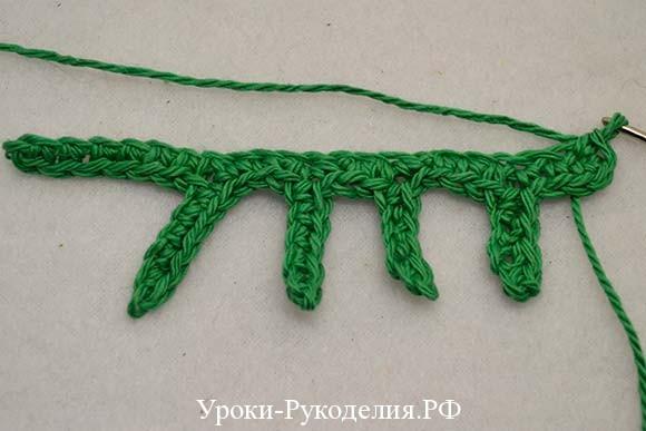 вязание крючком лист