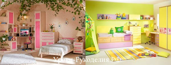 Советы по цветовому оформлению детской комнаты
