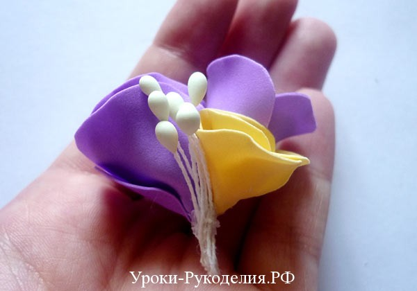 цветок из фома для свадьбы