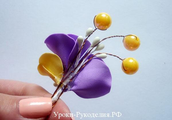 цветок из фоамирана для свадьбы