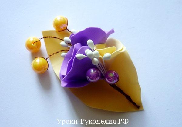 для свадьбы цветок своими руками