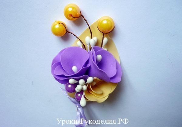 цветочный букет на свадьбу руками