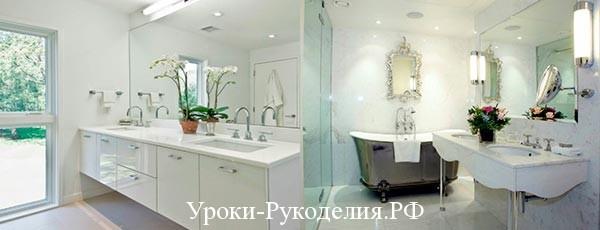 Интерьер: белая ванная комната
