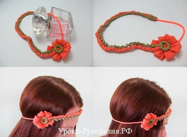 цветок для волос на голову