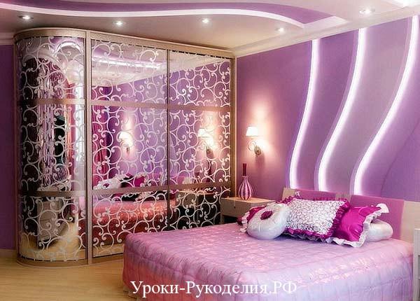 фиолетовый цвет интерьера