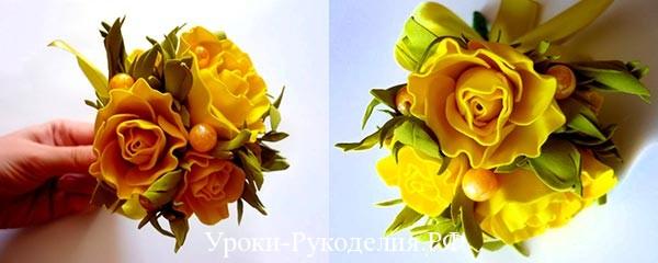 розы из фома своими руками