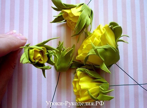 флористика букет из роз