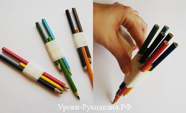станок из карандашей