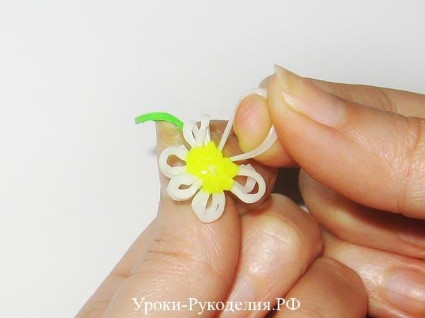 сплести цветок ромашка