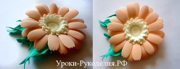 мк цветы пластичная замша