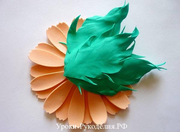 цветок герберы из фома