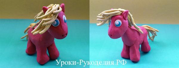 как слепить пони