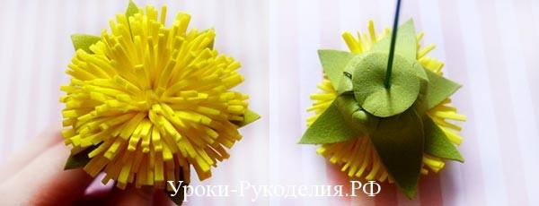 простой цветок из фома