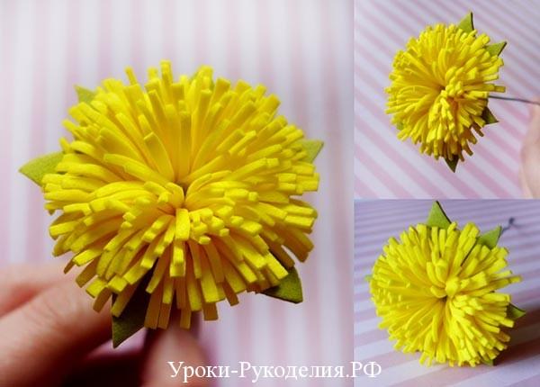 резной цветок из фома