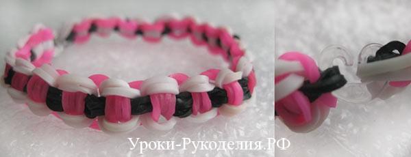 Плетение из резинок: браслет «Велосипедная цепь»