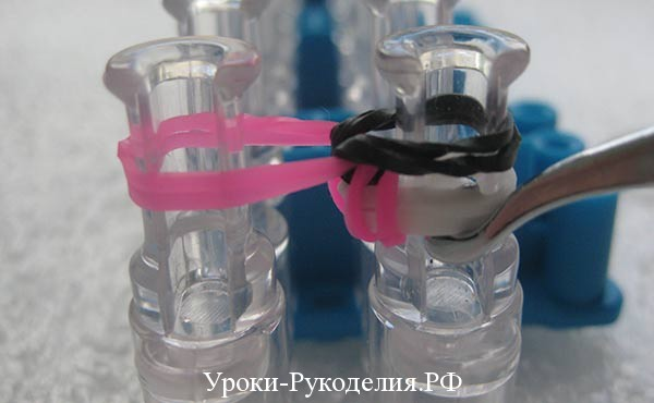 техника плетения резинками