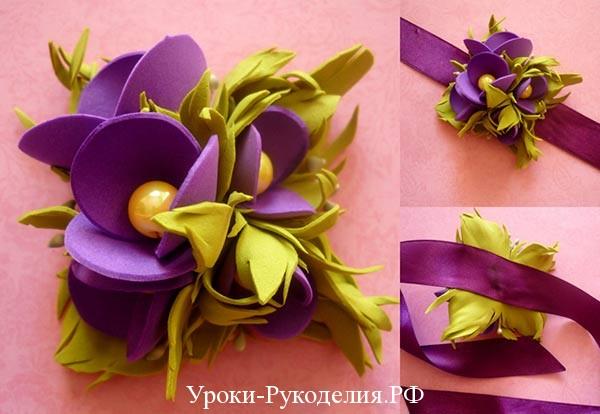 букет из цветов фоамиран