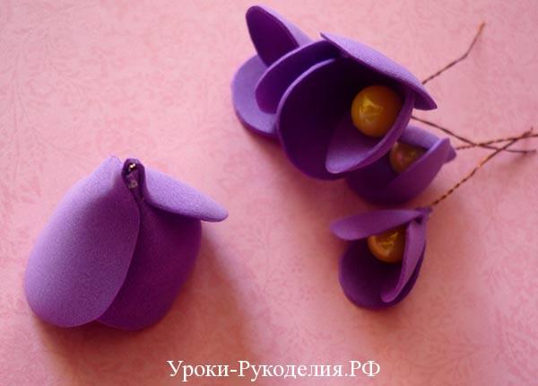 сделать цветок с тычинками