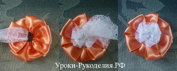 мастер класс цветы из лент